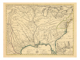 1718, Louisiana, Maryland, North Carolina, South Carolina, United States, Virginia Giclee Print