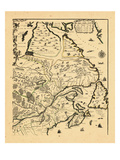 1718, New Brunswick, Newfoundland and Labrador, Nova Scotia, Prince Edward Island Giclee Print