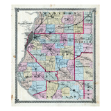 1874, St. Clair County Map, Illinois, United States Giclee Print