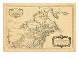 1755, North America, Canada Giclee Print