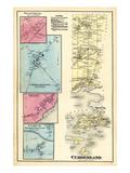 1871, Cumberland, Cumberland Center, Presumpscott Falls, New Casco, Portland Corners, Maine, USA Giclee Print