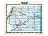 1876, Whiteside County Map, Illinois, United States Giclee Print