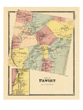 1869, Pawlet Town, Pawlet West, Vermont, United States Giclee Print