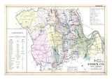 1906, Essex County Map, New Jersey, United States Giclee Print