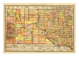1892, South Dakota State Map, South Dakota, United States Giclee Print