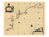 1681, Connecticut, Maine, Maryland, Massachusetts, New Hampshire, New York, Rhode Island, Vermont Giclee Print