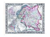 1864, Belgium, Denmark, Finland, Norway, Russia, Sweden, Europe, Russia in Europe, Sweden Giclee Print