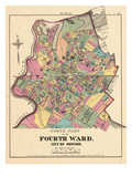 1874, City of Newton, Fourth Ward North, Massachusetts, United States Giclee Print