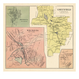 1892, Wilton Town, Greenfield, Greenfield Town, Wilton Center, New Hampshire, United States Giclee Print