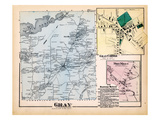 1871, Gray, Gray Corner, Dry Mills, Maine, United States Giclee Print
