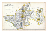 1893, New Haven County - North Part, Connecticut, United States Giclee Print