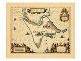 1658, Argentina, Chile Giclee Print