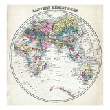 1877, Eastern Hemisphere, Maryland, United States Reproduction procédé giclée