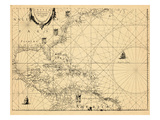 1634, United States, West Indies, Central America Giclee Print