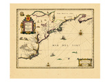 1652-58, Massachusetts, New York, Virginia, Nova Scotia, Connecticut, Maine, Maryland, New Jersey Giclee Print