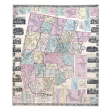 1859, Litchfield County Wall Map, Connecticut, United States Giclee Print
