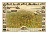 1908, Denver Bird's Eye View, Colorado, United States Giclee Print