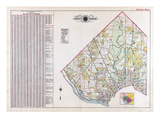 1915, Index Map Volume 3, District of Columbia, United States Giclee Print