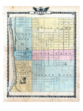 1876, Quincy City Map, Illinois, United States Giclee Print