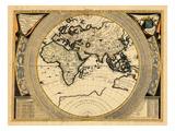 1696, Australia, Africa, Asia, Europe Giclee Print