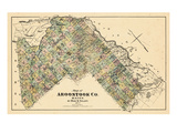 1877, Aroostook County Map, Maine, United States Giclee Print