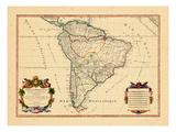 1719, América del Sur Lámina giclée