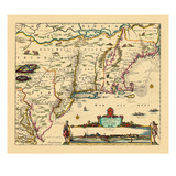 1684, Connecticut, Maine, Massachusetts, New Hampshire, New Jersey, New York, Rhode Island, Vermont Giclee Print