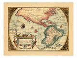 1574, North America, South America, World, Western Hemisphere Giclee Print