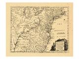 1754, Connecticut, Georgia, Maine, Maryland, Massachusetts, New Hampshire, New York, North Carolina Giclee Print