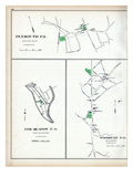 1893, Plymourth P.O., Pine Meadow P.O., Woodbury P.O., Connecticut, United States Giclee Print