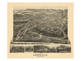 1891, Asheville Bird's Eye View, North Carolina, United States Giclee Print