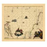 1675, Newfoundland and Labrador, Brazil Giclee Print