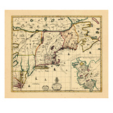 1714, Connecticut, Maine, Massachusetts, New Hampshire, Rhode Island, Vermont, Maryland, New York Giclee Print