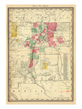 1885, New Mexico State Map, New Mexico, United States Giclee Print