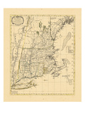 1765, Connecticut, Maine, Massachusetts, New Hampshire, Rhode Island, Vermont Giclee Print
