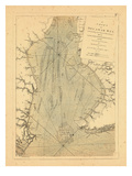1779, A Chart of Delaware Bay, Giclee Print