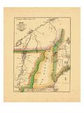 1822, Maine, New Hampshire, New York, Quebec, Vermont Giclee Print