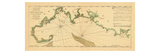 1763, New England Chart, Cape Cod to Casco Bay, Maine, Massachusetts, New Hampshire Giclee Print