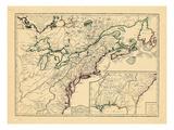 1756, United States, New Brunswick, Newfoundland and Labrador, Nova Scotia, Prince Edward Island Giclee Print