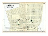 1873, Topeka City - Ward 1 - Part, Kansas, United States Giclee Print
