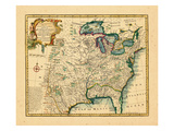 1747, United States, Louisiana, Florida and Canada Giclee Print