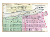 1873, Topeka City - Wards 1, 2, and 4 - Part, Kansas, United States Giclee Print