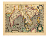 1619, Vietnam, Thailand, Sri Lanka, Myanmar, Malaysia, Laos, India, China, Cambodia, Bangladesh Giclee Print