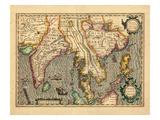 1619, Vietnam, Thailand, Sri Lanka, Myanmar, Malaysia, Laos, India, China, Cambodia, Bangladesh Giclee Print