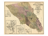 1900, Sonoma County Wall Map, California, United States Giclee Print