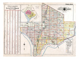 1921, Index Map, District of Columbia, United States Giclee Print