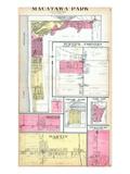 1913, Macatawa Park, Burnip's Corners, Martin, Shelbyville, Taylor Park, Michigan, United States Giclee Print