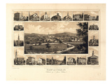 1852, York Bird's Eye View, Pennsylvania, United States Giclee Print