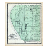 1904, Hamlin Township, Piney Ridge, Lincoln Lake, Bride's Resort, Buggs Point, Michigan, United Sta Giclee Print