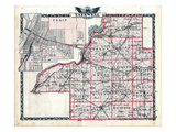 1876, Tazewell County Map, Illinois, United States Giclee Print